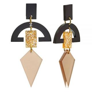 Half Moon Glitter Drops Earrings -Toolally Jewellery - Jewellery Blog