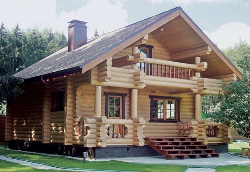 Дом из бревна под ключ