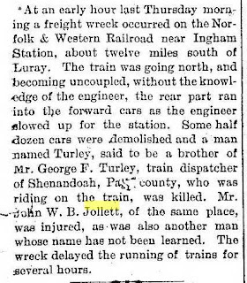 Newspaper article John B. Jollett  https://jollettetc.blogspot.com