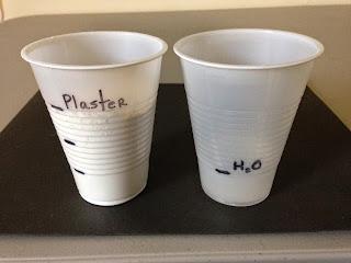 Mix ratio for Plaster of Paris