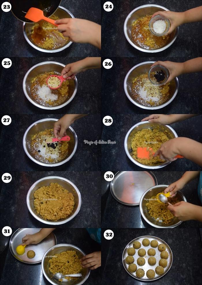 Ganpati Churma Ladoo (Modak) Recipe - चूरमा गुड़ लड्डू  रेसिपी - Priya R - Magic of Indian Rasoi