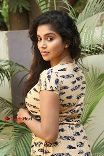 Telugu Actress Karunya Chowdary Stills in Short Dress at ATM Not Working Press Meet  0069.jpg