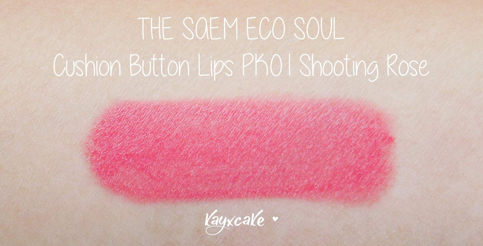 Peripera cushion lips - The Saem Eco Soul Cushion Tint Pk01 Review Swatches