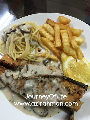 western food, salmon grill, resepi ringkas