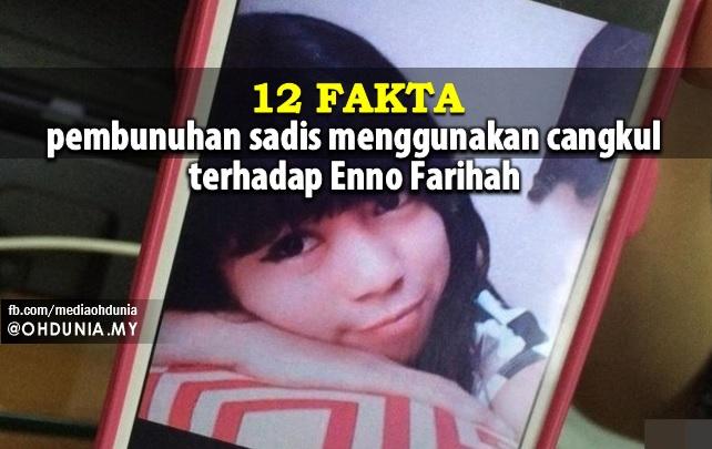 12 Fakta Pembunuhan Sadis Menggunakan Cangkul Terhadap Enno Farihah