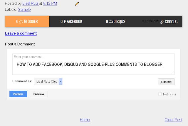 ব্লগস্পটে Multi comments widgets blogger যুক্ত করবেন যেভাবে