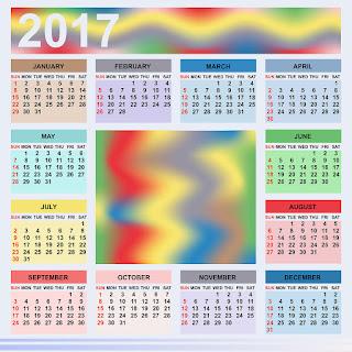 2017カレンダー無料テンプレート153