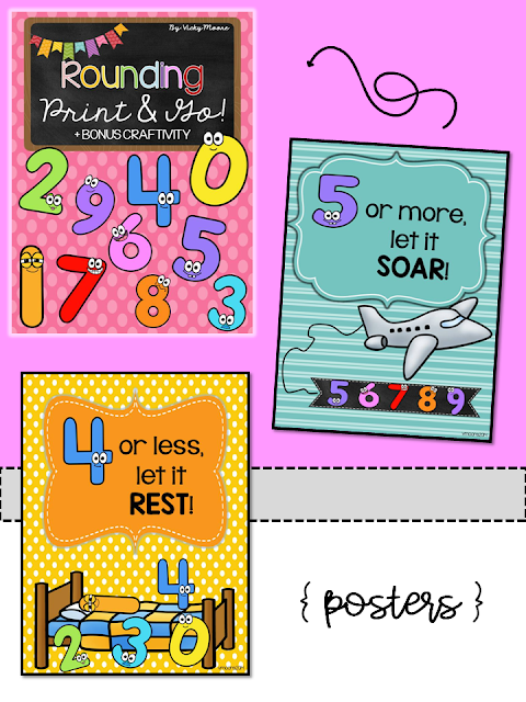 teaching rounding poem posters