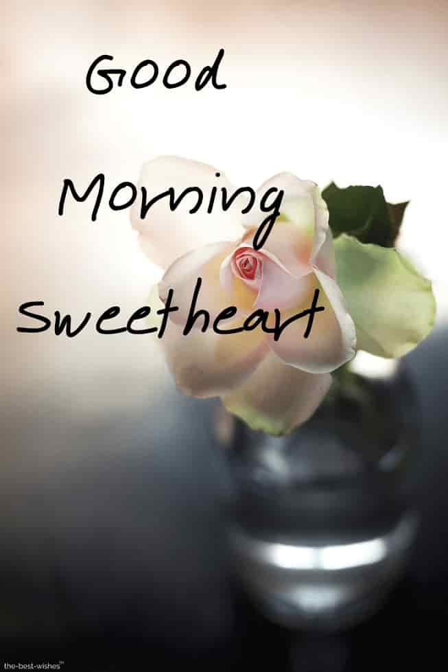 good morning to you sweetheart