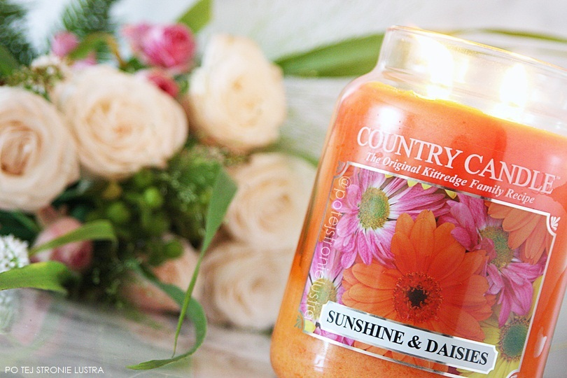 duża świeca country candle sunshine & daisies