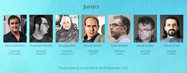 Jury of 2nd International Our Heritage Jerusalem Cartoon Contest 2018