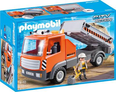 TOYS : JUGUETES - PLAYMOBIL City Action  6861 Camión : Construcción  Producto Oficial 2016 | Edad: 4-10 años  Comprar en Amazon España