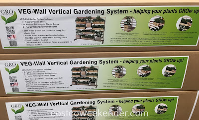 Costco 1056291 - GRO Products VEG-Wall Vertical Gardening System - A great way to expand your garden space