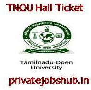 TNOU Hall Ticket