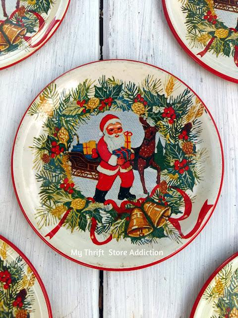 vintage Santa coasters