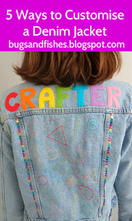 DIY customised denim jacket tutorial