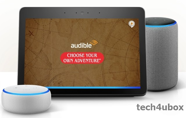 "You can now listen to the audio book ""Choose Your Own Adventure"" with Alexa"