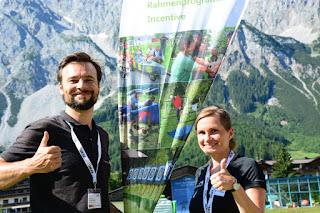 Team Building mit Conout Wien Österreich und REWE Karriereschmiede 2016 Outdoor Team Building Führungskräfte von morgen