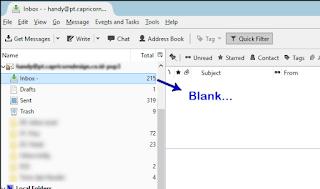 email hilang di thunderbird