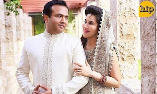 Shaista Lodhi In Romantic Pose With Her Husband Adnan Lodhi.