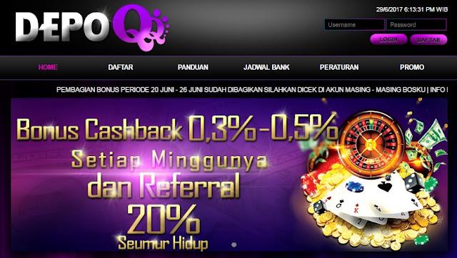 Situs Poker Online Terpercaya | DominoQQ | BandarQ | DepoQQ