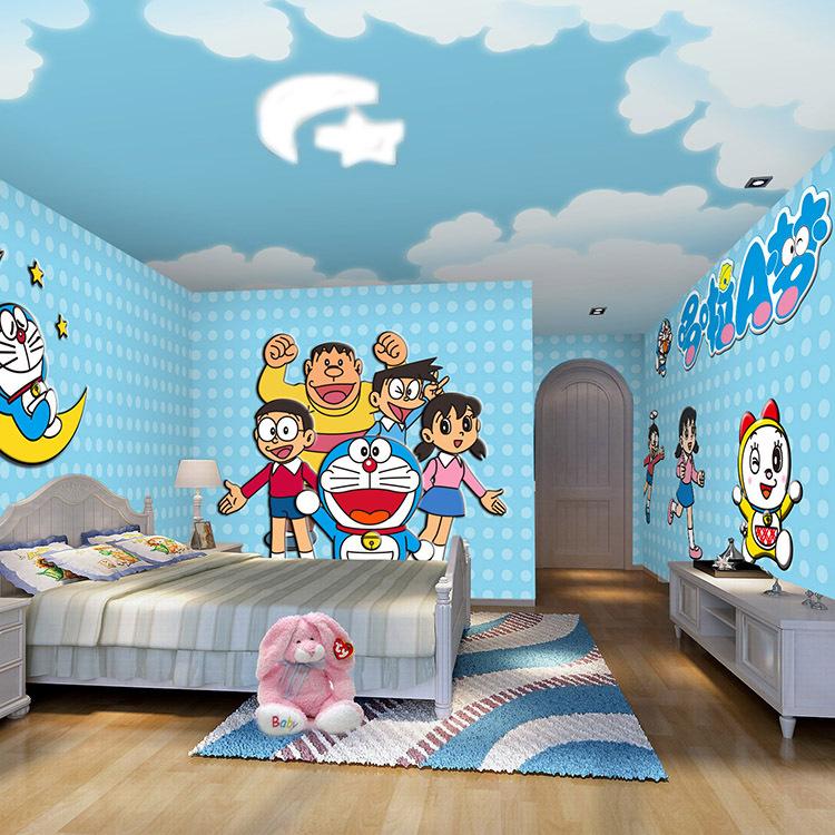lukisan dinding tema doraemon dan kawan kawan referensi rumah