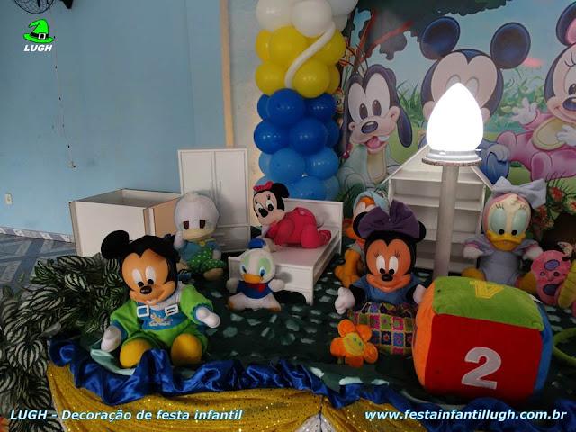 Mesa temática Baby Disney para festa de aniversário infantil