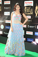 Amyra Dastur in Flower Print Choli Transparent Chunni at IIFA Utsavam Awards 43.JPG