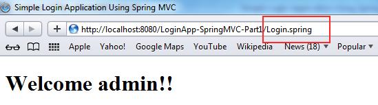 Simple Login Application Using Spring MVC and Hibernate – Part 1