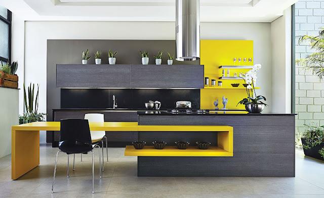Cozinha Amarela moderna