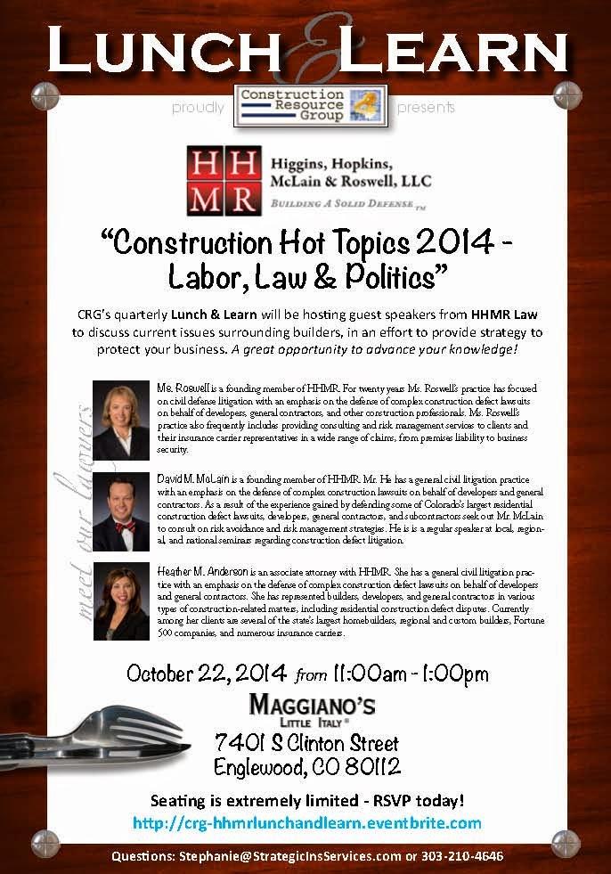 Colorado Construction Litigation: October 2014