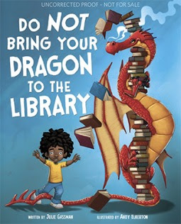 Bea's Book Nook, Review, Do NOT Bring Your Dragon to the Library, Julie Gassman, Andy Elkerton