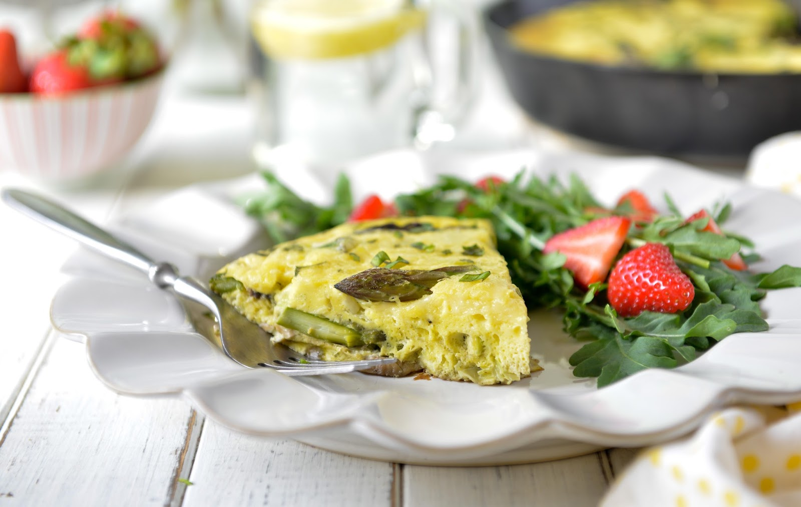 Nourishing Meals®: Asparagus, Leek, and Mushroom Frittata