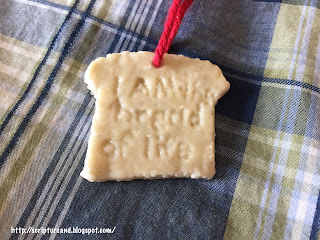 I am the bread of life necklace made of bread and glue