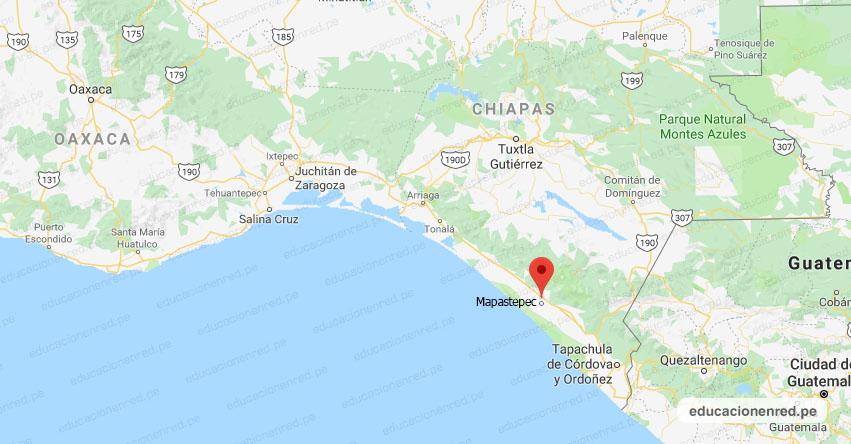 Temblor en México de Magnitud 3.8 (Hoy Viernes 22 Mayo 2020) Sismo - Epicentro - Mapastepec - Chiapas - CHIS. - SSN - www.ssn.unam.mx