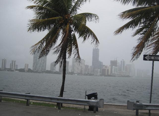 Furacões em Miami na Flórida