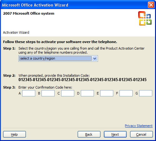 microsoft office 2007 activate