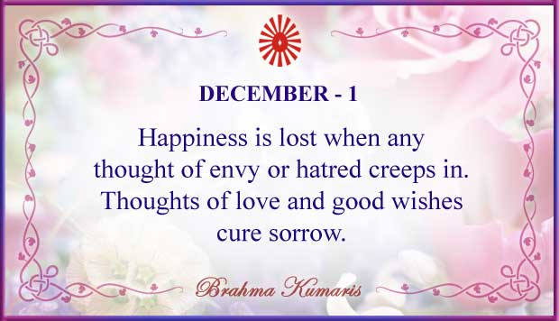 Thought For The Day December 1