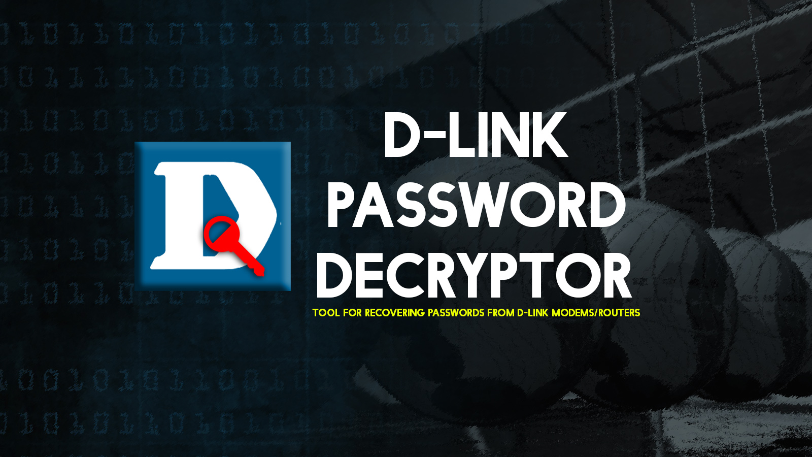 D-Link Password Decryptor - Tool for Recovering Passwords from D-Link Modems/Routers