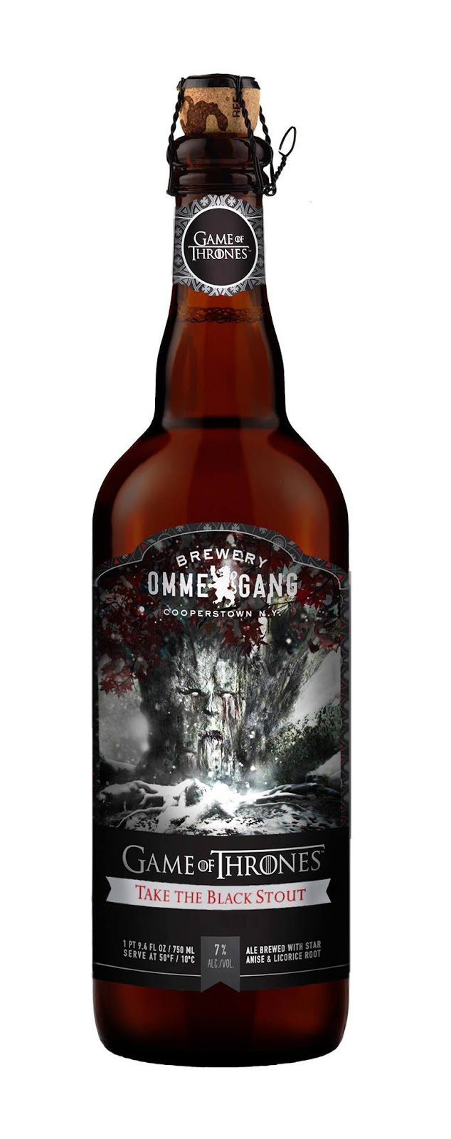 Game of Thrones Take The Black Stout Beer from Brewery Ommegang