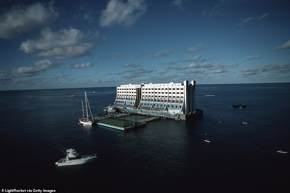 great barrier reef floating hotel