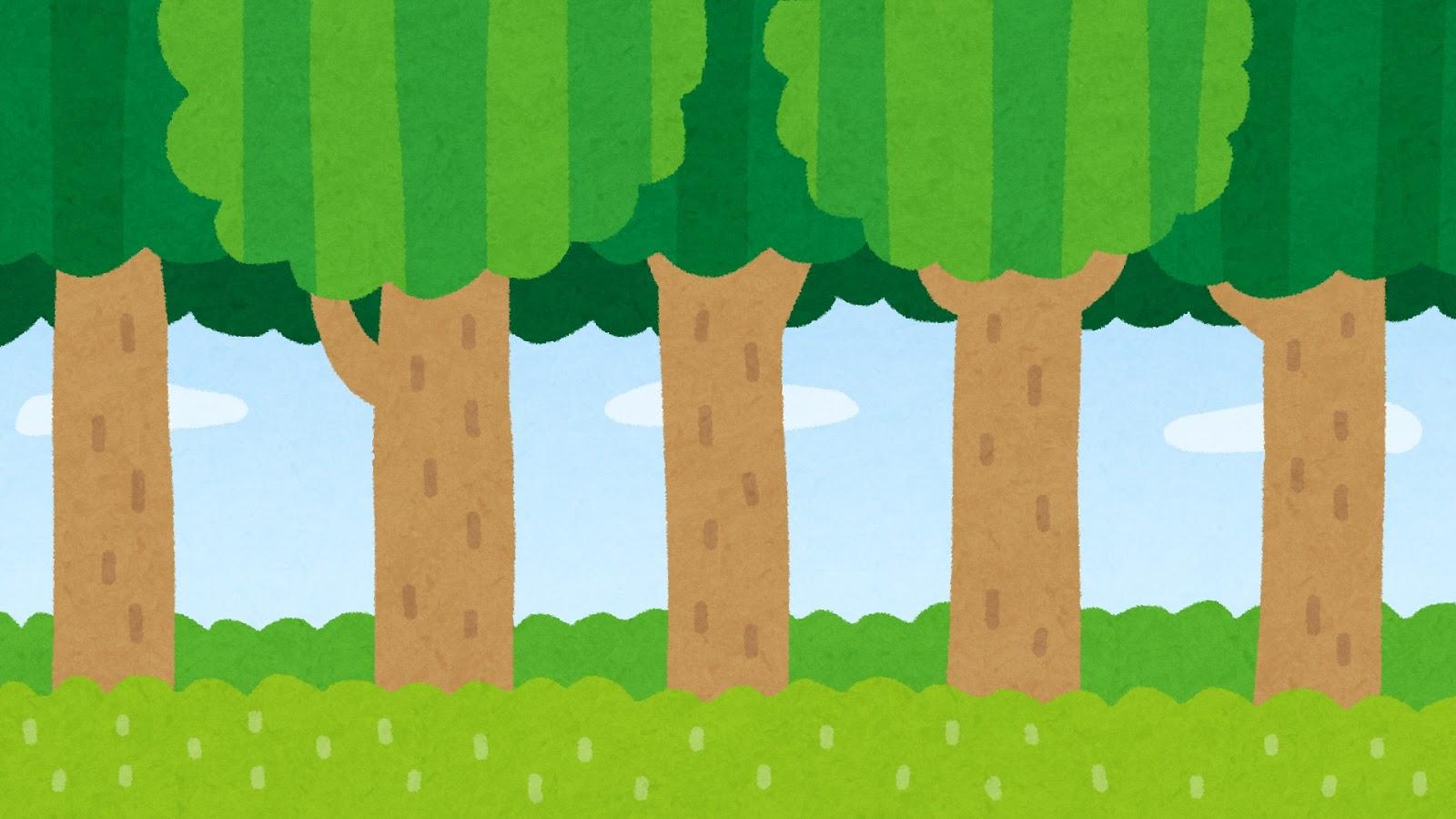 森のイラスト(背景素材) | かわいいフリー素材集 いらすとや