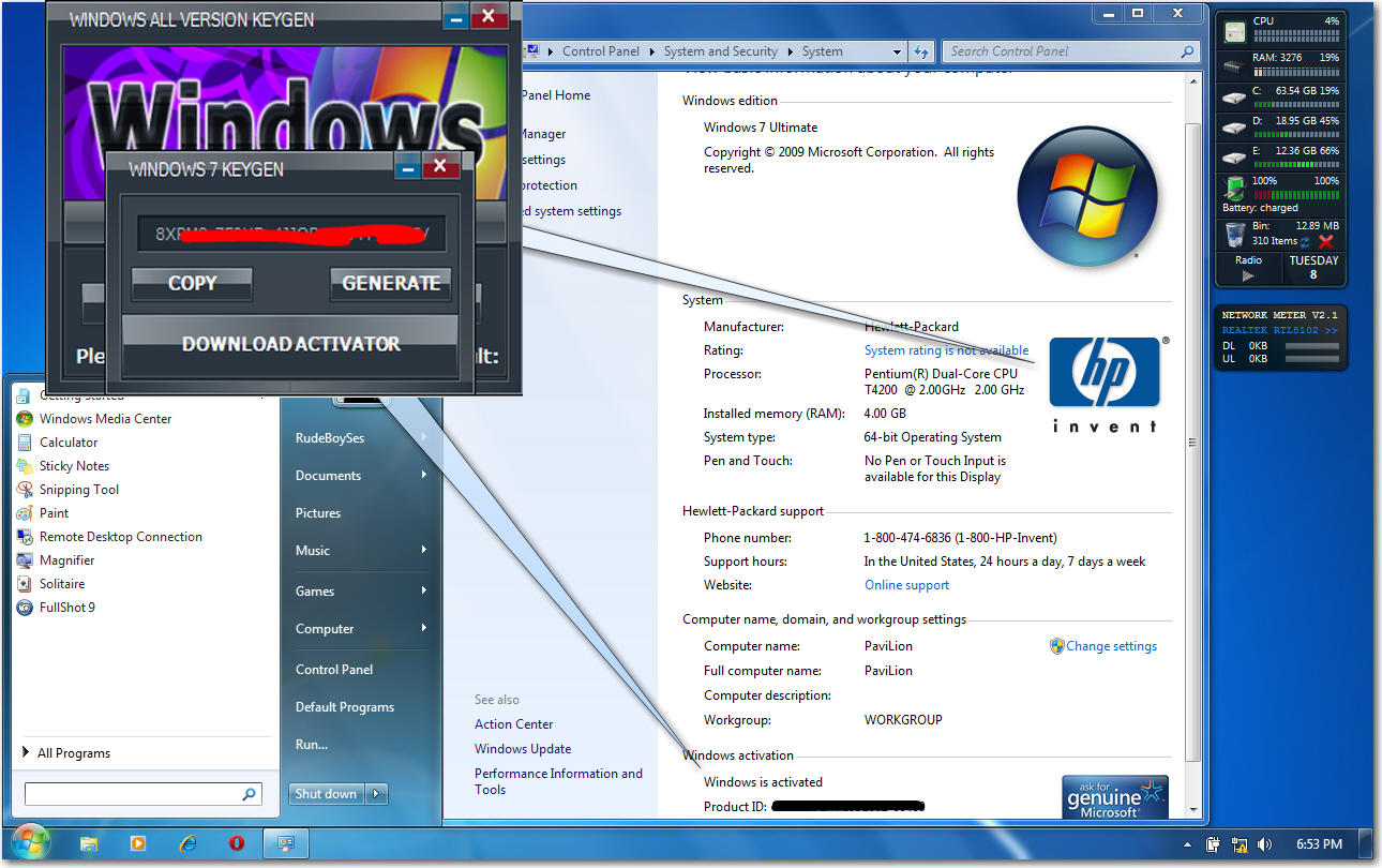 win 7 activator free