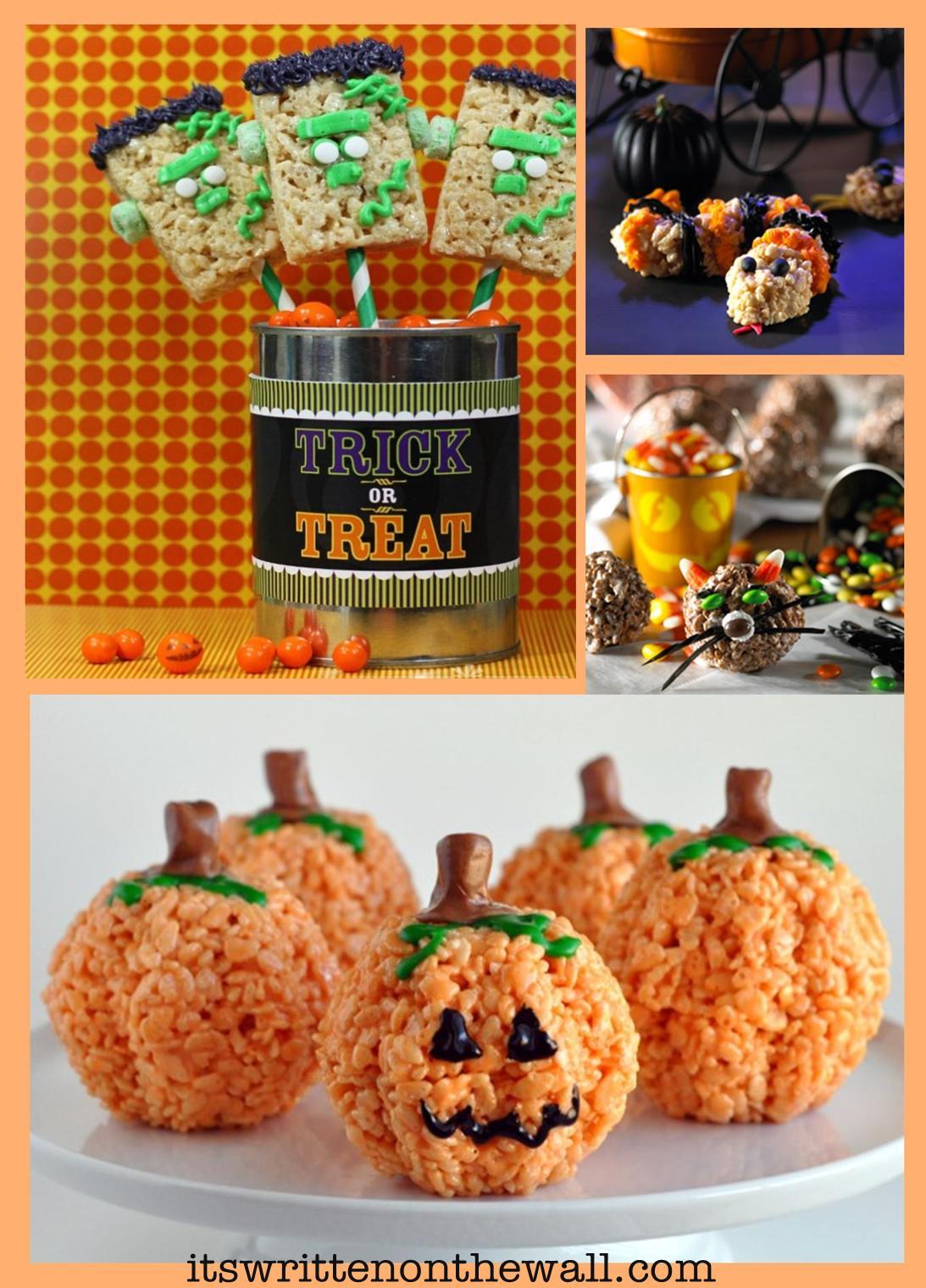 it s written on the wall 19 halloween rice krispies treats yummy