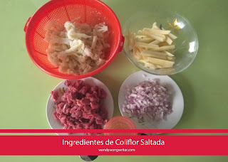 ingredientes coliflor saltada
