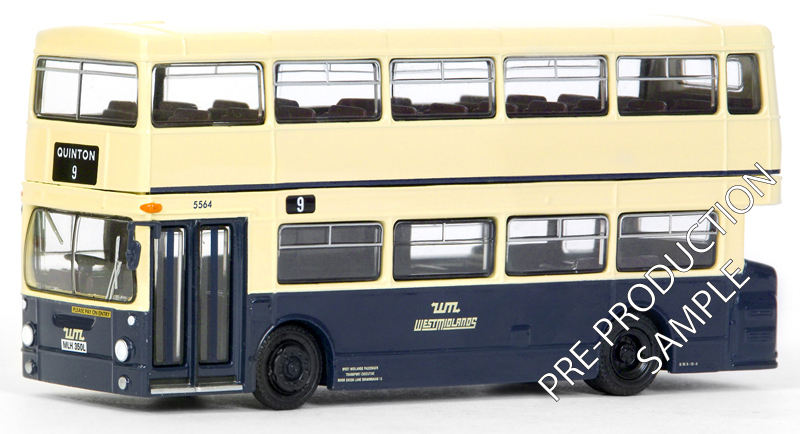 EFE PRE-PRO SAMPLE 28011 - Daimler DMS 1 Door - West Midlands P.T.E. Registration number MLH 350L, fleet number 5564. Works route 9 to Quinton. Scheduled for a March release