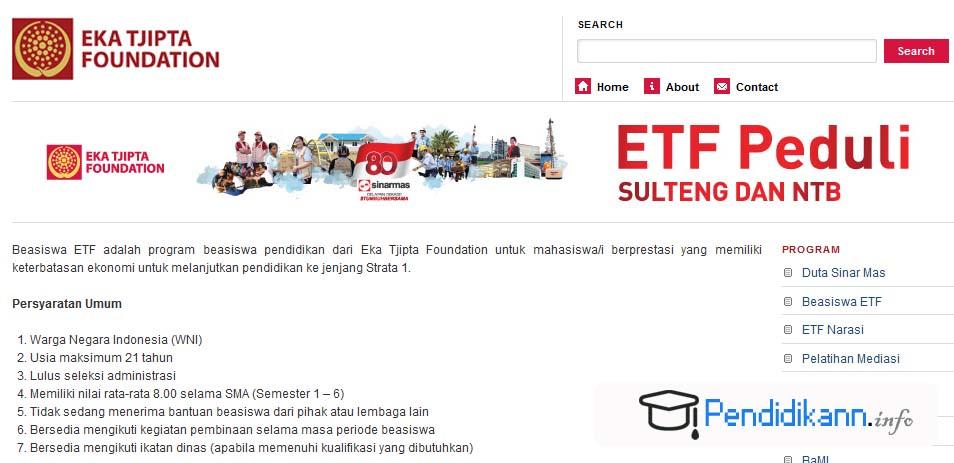 Beasiswa Eka Tjipta Foundation Untuk Mahasiswa Berprestasi