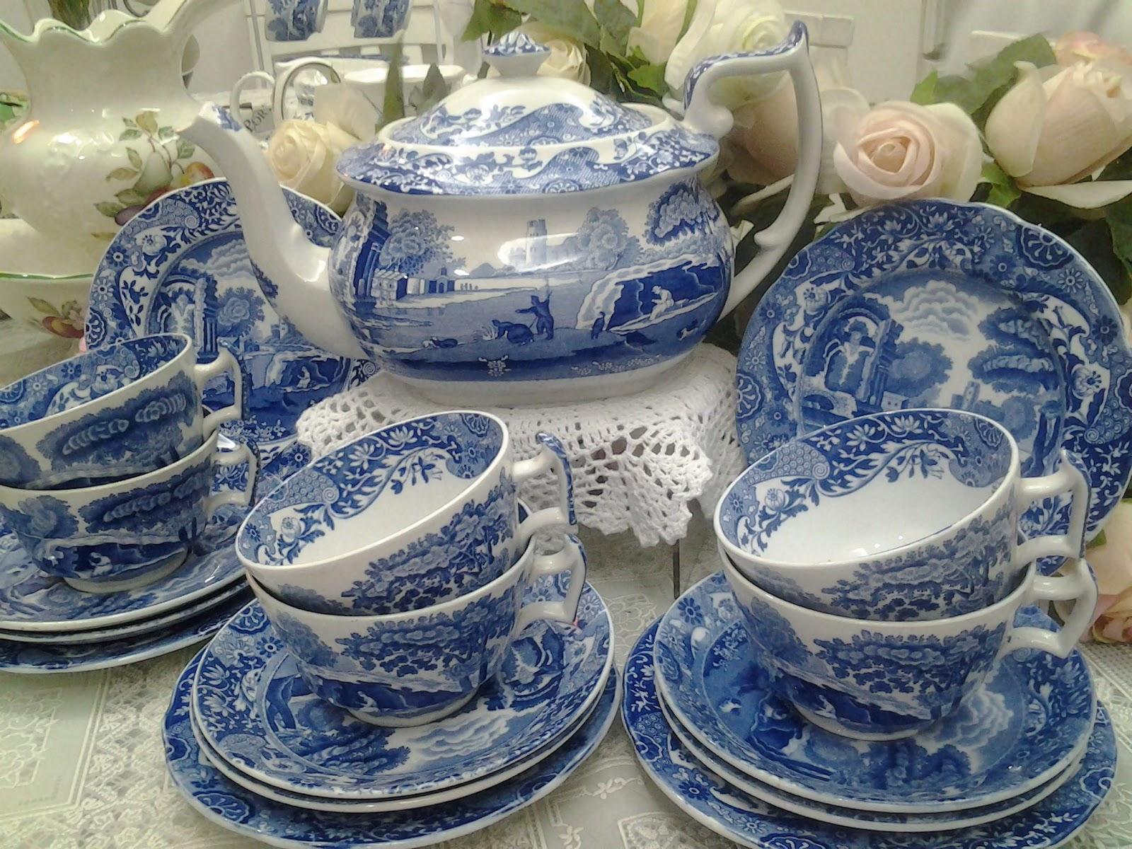 Lovely Treasures From English Garden Spode Blue Italian