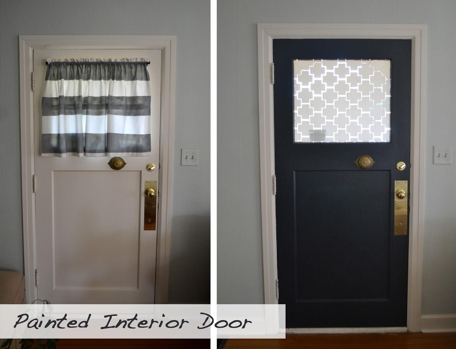 A home in the making renovate painted interior front door - Interior door with window on top ...