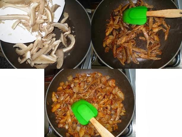 Omelete com cogumelos e requeijão